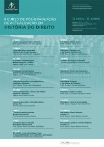 Cartaz Historia do Direito