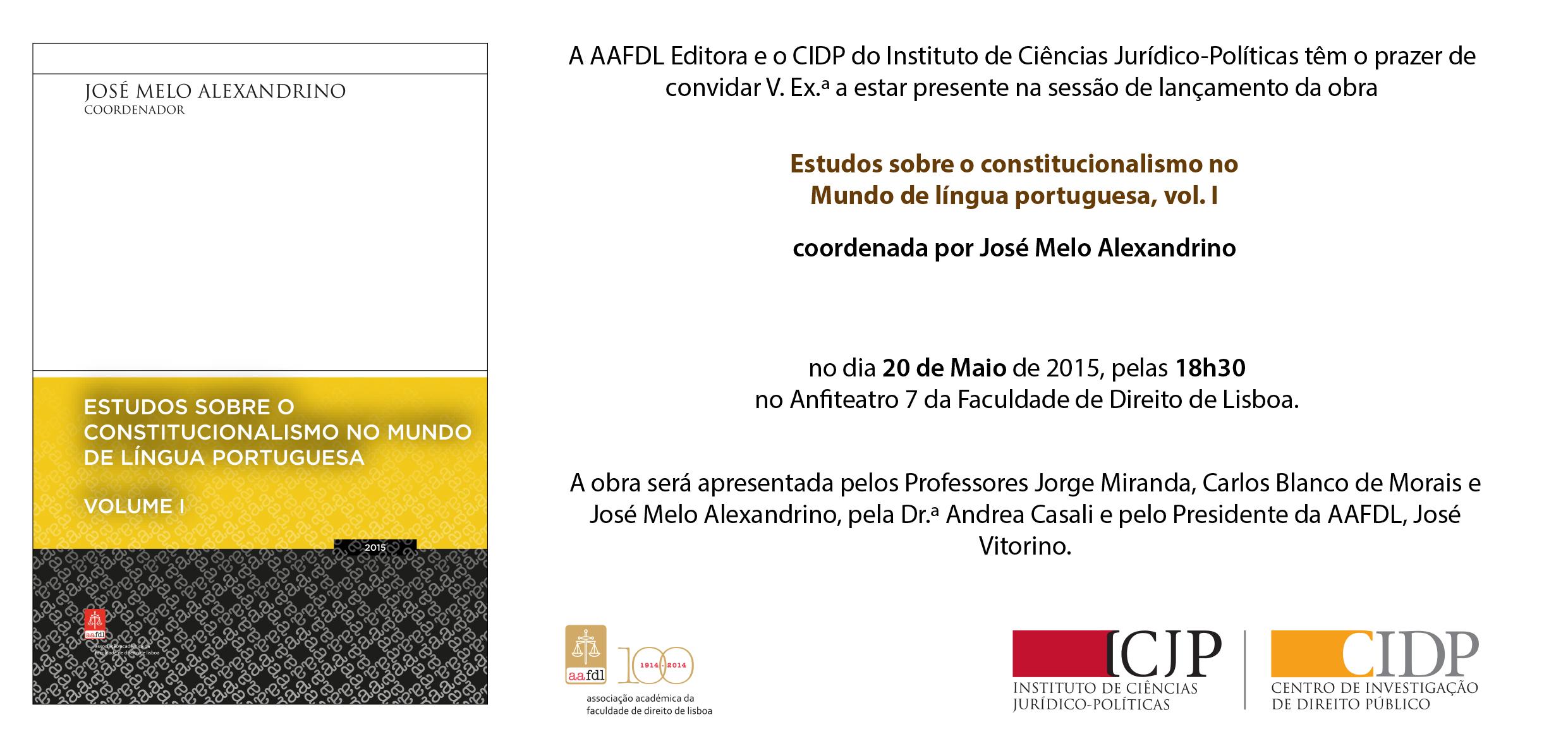 Convite - Estudos sobre o Constitucionalismo