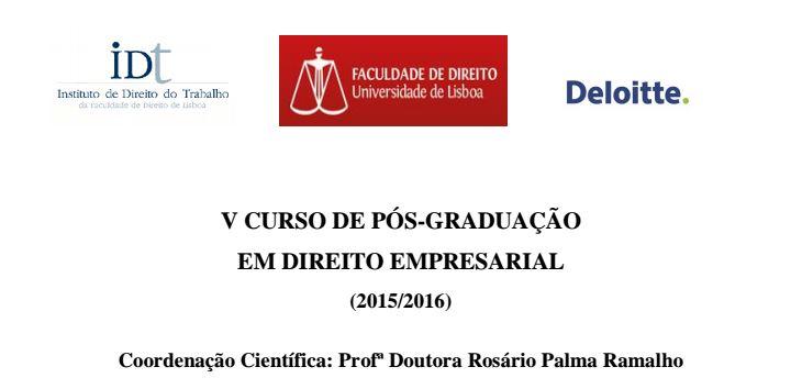 V curso pos-graduacao Dto empresarial - IDT