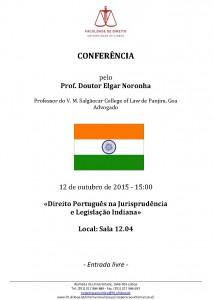 India - Cartaz Conferencia Elgar Noronha