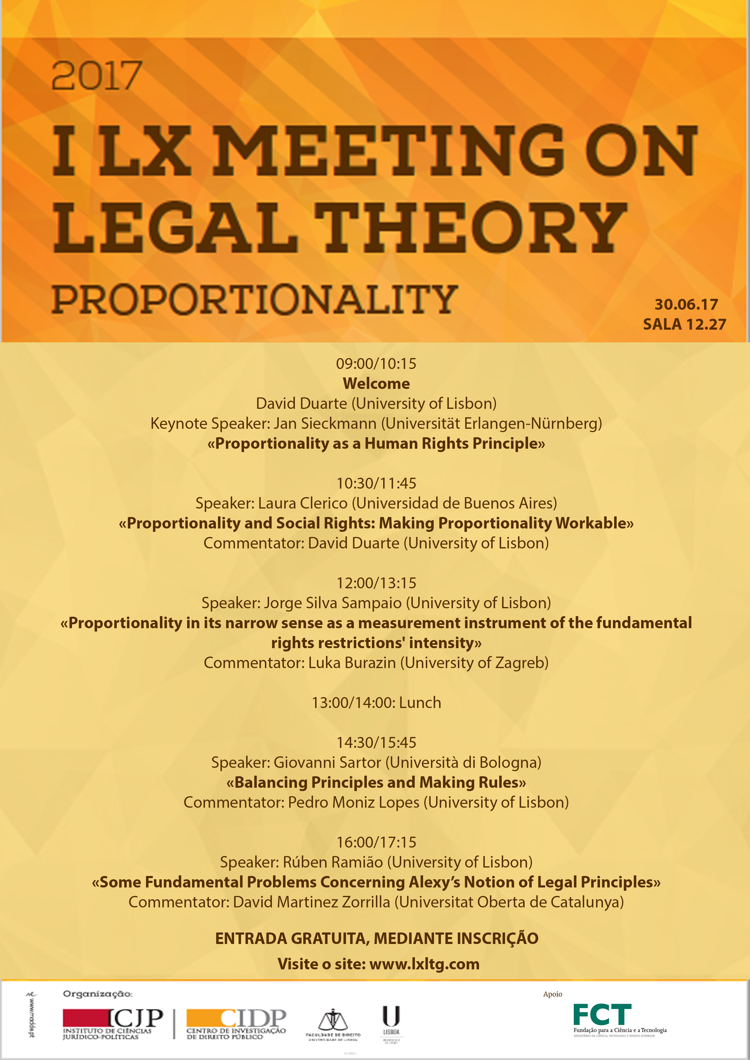 "I Lx Meeting on Legal Theory ""Proportionality"""