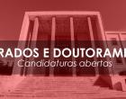 Mestrado e Doutoramento – Candidaturas 3.ª fase 2020/2021